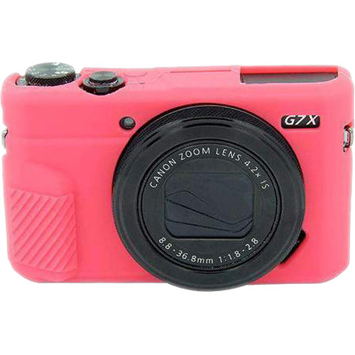 Amzer Soft Silicone Protective Case for Canon EOS G7 Mark II (Rose Red)