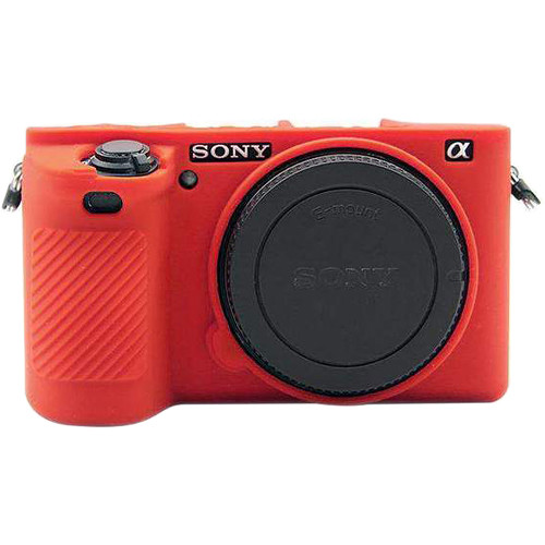 Amzer Soft Silicone Protective Case for Sony ILCE-6500 (Red)