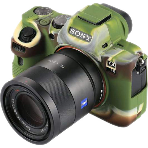 Amzer Soft Silicone Protective Case for Sony ILCE--7MII, 7SMII, 7RMII (Camouflage)