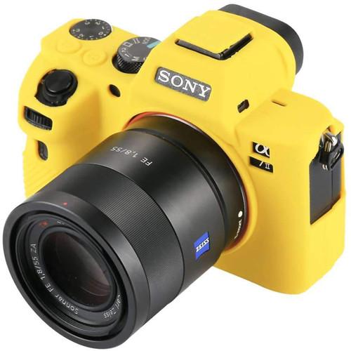 Amzer Soft Silicone Protective Case for Sony ILCE--7MII, 7SMII, 7RMII (Yellow)
