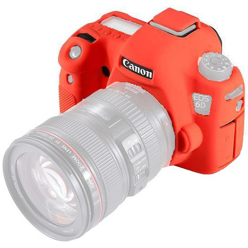 Amzer Soft Silicone Protective Case for Canon EOS 6D (Red)