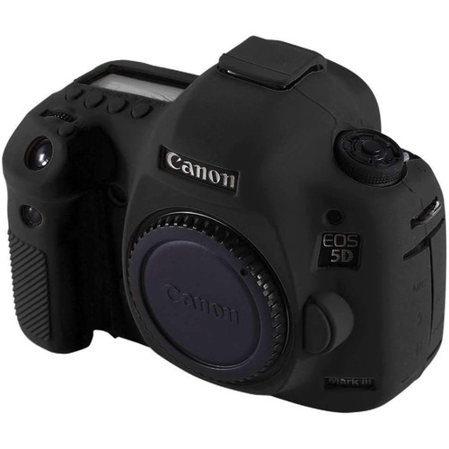 Amzer Soft Silicone Protective Case for Canon EOS 5D Mark III / 5D3 (Black)