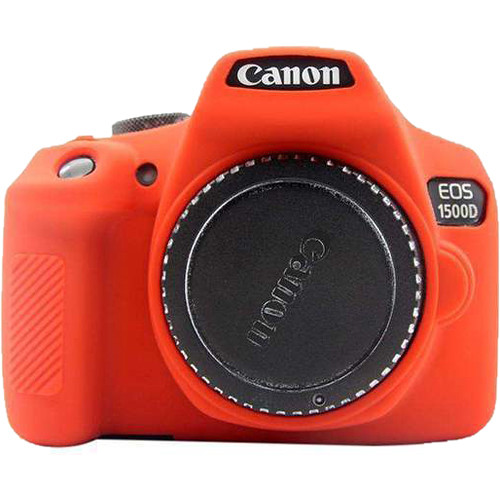 Amzer Soft Silicone Protective Case for Canon EOS 1300D or 1500D (Red)