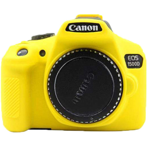 Amzer Soft Silicone Protective Case for Canon EOS 1300D or 1500D (Yellow)