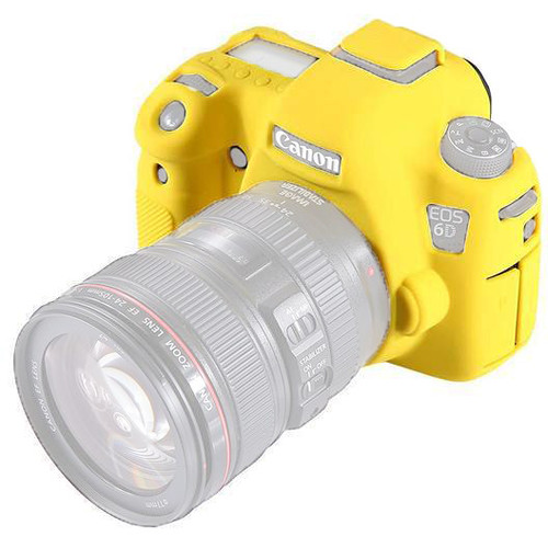 Amzer Soft Silicone Protective Case for Canon EOS 6D (Yellow)