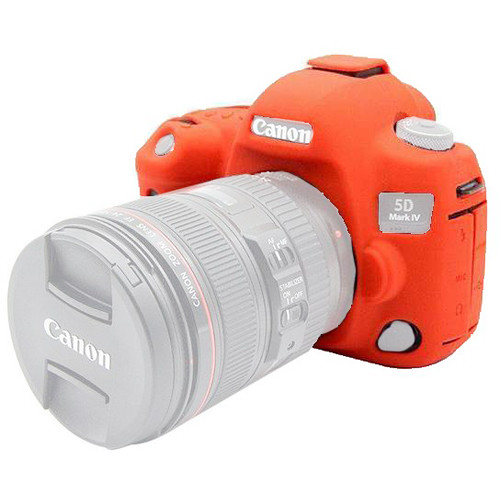 Amzer Soft Silicone Protective Case for Canon EOS 5D Mark IV (Red)