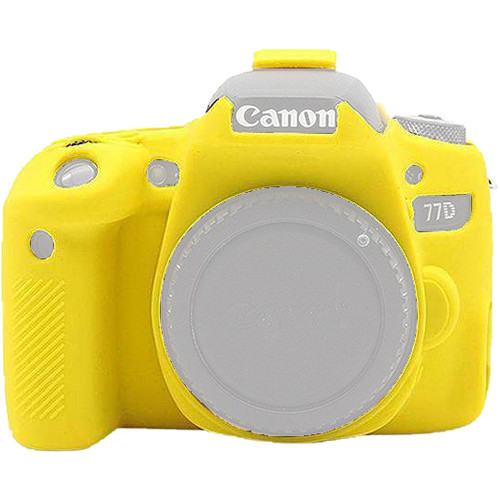 Amzer Soft Silicone Protective Case for Canon EOS 77D (Yellow)