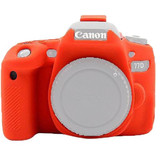 Amzer Soft Silicone Protective Case for Canon EOS 77D (Red)