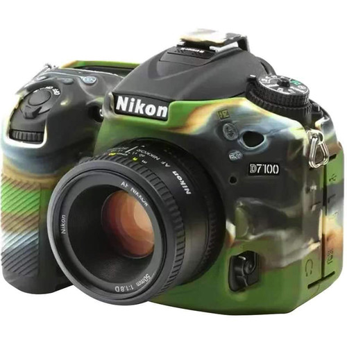 Amzer Soft Silicone Protective Case for Nikon D7200 or D7100 Camera (Camouflage)