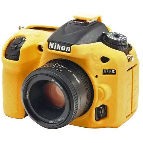Amzer Soft Silicone Protective Case for Nikon D7200 or D7100 Camera (Yellow)