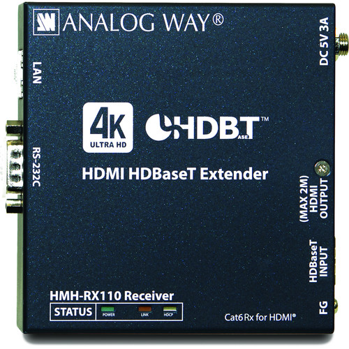 Analog Way HDMI HDBaseT 4K Extender Receiver with HDCP 2.2