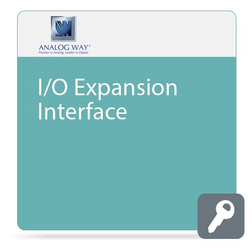 Analog Way DP 1.2, HDMI 2.0, 12G-SDI and Quad-Link 3G-SDI - I/O Expansion Interface - to 4K 60 4:4:4