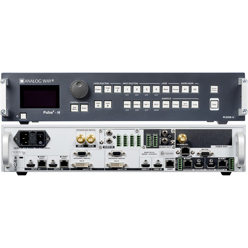 Analog Way 8-Input Hi-Resolution Mixer+Seamless Switcher with 2-HDBaseT INs + 2-Mirrored HDMI/HDBaset OutPuts