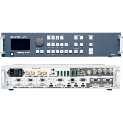 Analog Way 10-Input Hi-Resolution Seamless Matrix Scaler with 4-HDBaseT INs + 2-Mirrored HDMI/HDBaset OutPut
