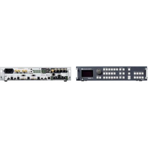 Analog Way 10-Input Hi-Resolution Mixer+Seamless Switcher with 4-HDBaseT INs + 2-Mirrored HDMI/HDBaset OutPuts