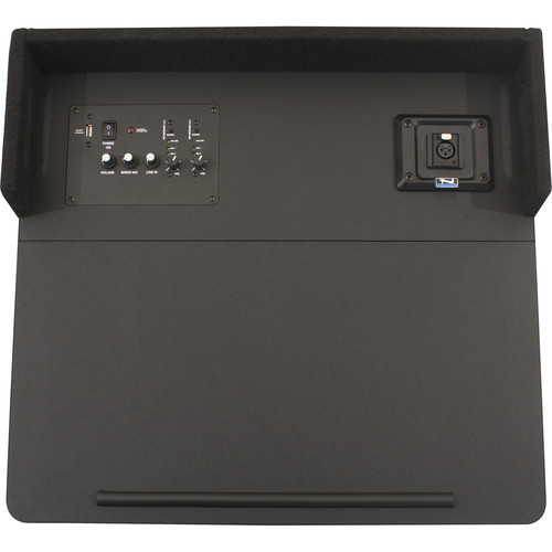 Anchor Audio ACL2-U4 Acclaim Tabletop Lectern with Two Built-In Dual Wireless Microphone Receivers