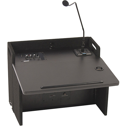 Anchor Audio ACL-8000U1BK Acclaim Portable Tabletop Lectern with One Wireless Receiver (Black)