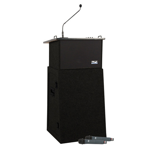 Anchor Audio Acclaim Deluxe Package AC/DC Portable Lectern with Built-in Sound System (Dark Gray, 100 - 220VAC)