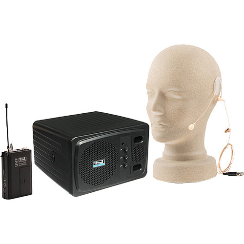 Anchor Audio AN130BPBKEM+ Powered Speaker with Bodypack Transmitter and Single-Ear Microphone (Black)