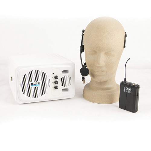 Anchor Audio AN-130BPHS+ Powered Speaker and Wireless Bodypack Transmitter with Headband Mic
