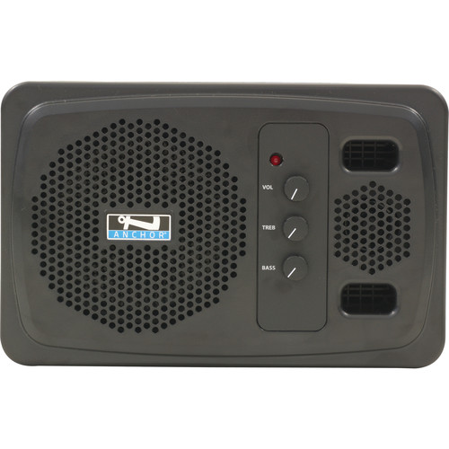 Anchor Audio AN-1000XU2+ Speaker Monitor with Dual-Channel Wireless Receiver (Black)