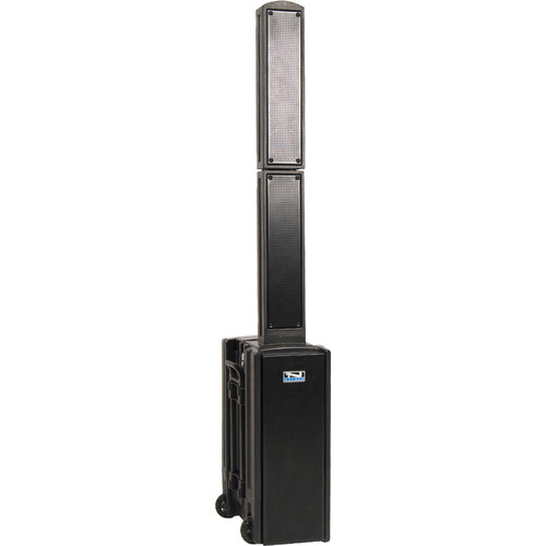 Anchor Audio Beacon Line Array Speaker with CD/MP3 Combo Player, Bluetooth, and Two Wireless Receivers