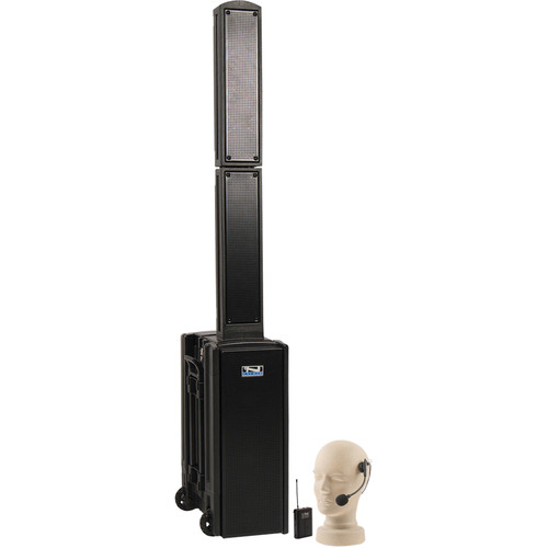 Anchor Audio BEA-BP Beacon Line Array Speaker Basic Package with Headband Microphone