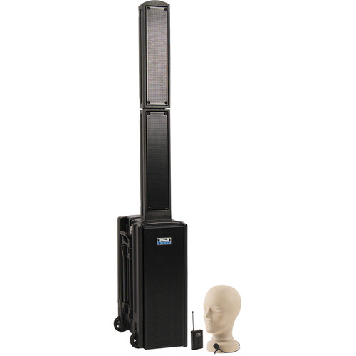 Anchor Audio BEA-BP Beacon Line Array Speaker Basic Package with Lapel Microphone