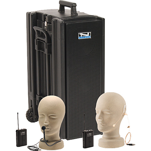 Anchor Audio Beacon Line Array Speaker Deluxe Package with Collar and On-Ear Microphones