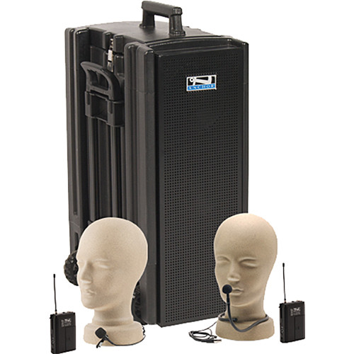 Anchor Audio Beacon Line Array Speaker Deluxe Package with Collar and Lapel Microphones