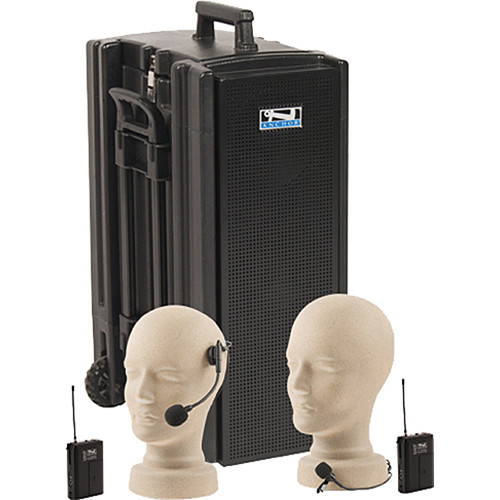 Anchor Audio Beacon Line Array Speaker Deluxe Package with Headset and Lapel Microphones