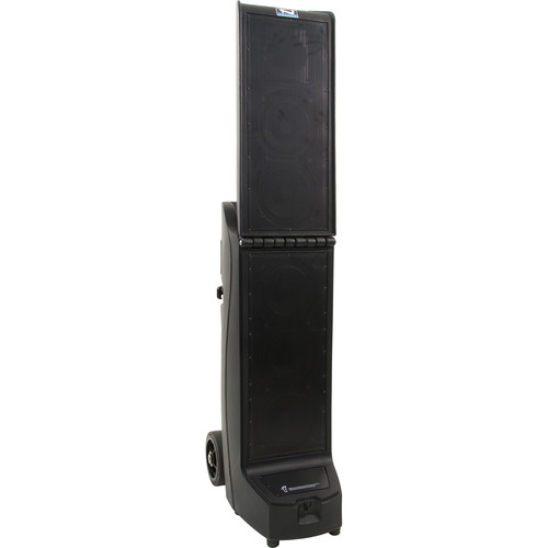 Anchor Audio BIG2-RU4 Bigfoot 2 Portable Line Array with Bluetooth, AIR Receiver & Two Dual Mic Receivers