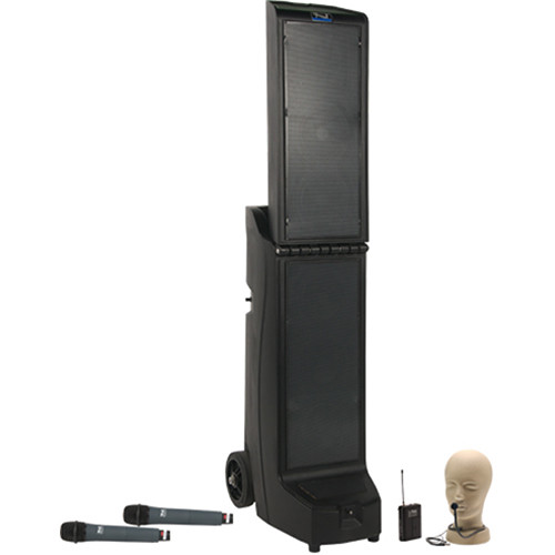 Anchor Audio Bigfoot Triple Package with Two WH-8000 Wireless Handheld Mic and One CM-60 Collar Mic