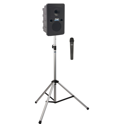 Anchor Audio GG-BP1-H Go Getter Portable Sound System Basic Package 1 with One Wireless Handheld Microphone and Speaker Stand (1.9 GHz)