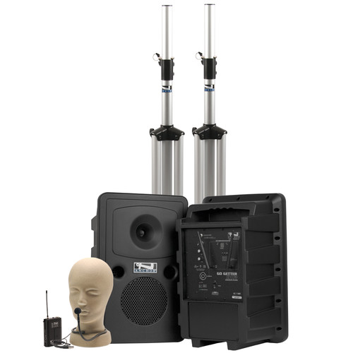 Anchor Audio Go Getter Deluxe AIR Package with Wireless Beltpack Transmitter & CM-60 Collar Microphone