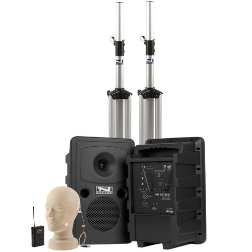 Anchor Audio Go Getter Deluxe AIR PA Package with Wireless Beltpack Transmitter & EM-TA4F UltraLite Microphone
