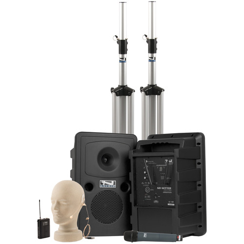 Anchor Audio Go Getter Deluxe AIR PA Package with Wireless Beltpack & Handheld Transmitters (EM-TA4F UltraLite Microphone)