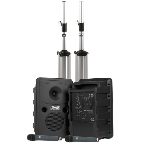 Anchor Audio Go Getter Deluxe Dual AIR Package with Two Wireless Handheld Microphones
