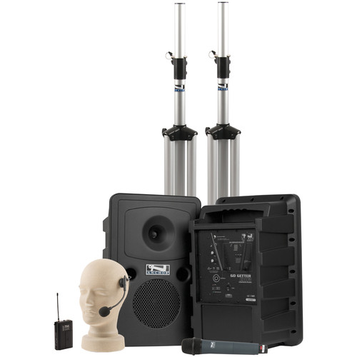 Anchor Audio Go Getter Deluxe AIR PA Package with Wireless Beltpack & Handheld Transmitters (HBM-TA4F Headband Microphone)