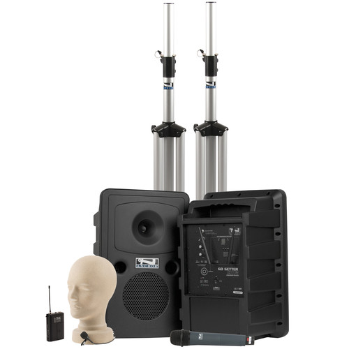 Anchor Audio Go Getter Deluxe AIR PA Package with Wireless Beltpack & Handheld Transmitters (LM-60 Lapel Microphone)
