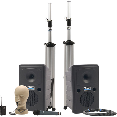 Anchor Audio Go Getter Deluxe PA Package with Wireless Handheld & Collar Microphone and Bluetooth