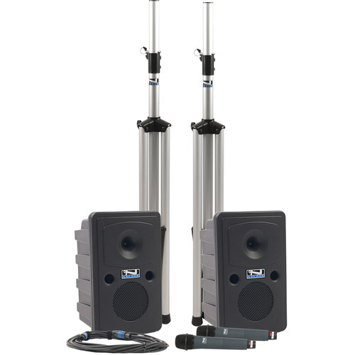 Anchor Audio Go Getter DUAL Deluxe PA Package with Two Wireless Handheld Microphones