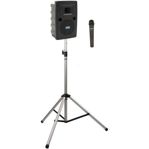Anchor Audio LIB-BP1-H Liberty Basic Package 1 Portable Bluetooth PA System with AIR Transmitter, Handheld Wireless Microphone Transmitter, and Speaker Stand (1.9 GHz)