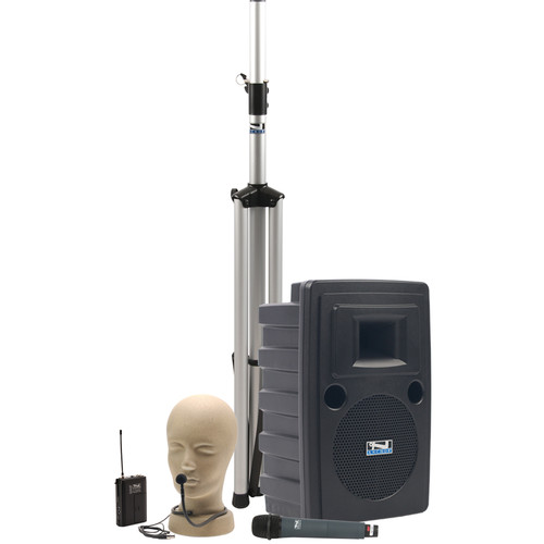 Anchor Audio LIB-BPDUAL Liberty Platinum DUAL Basic PA Package with Handheld & Collar Microphone