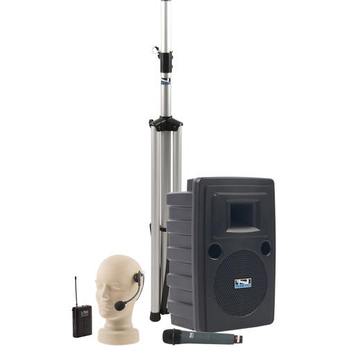 Anchor Audio LIB-BPDUAL Liberty Platinum DUAL Basic Package with Handheld & Headband Microphone