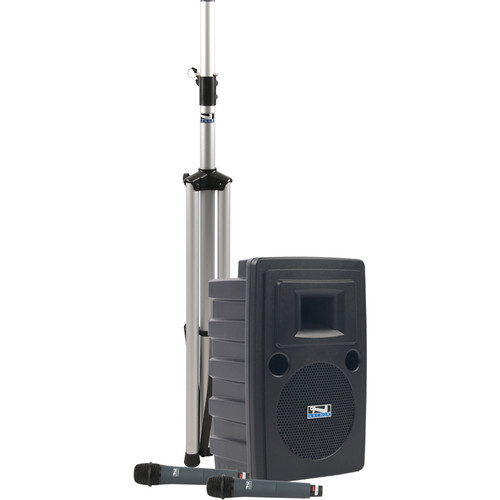 Anchor Audio LIB-BPDUALAC Liberty Platinum Basic PA Package with 2 Handheld Microphones