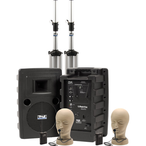 Anchor Audio Liberty Deluxe AIR PA Package Dual with Two CM-60 Collar Mics