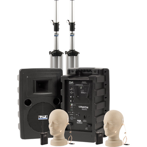 Anchor Audio Liberty Deluxe AIR PA Package Dual with Two EM-TA4F UltraLite Mics