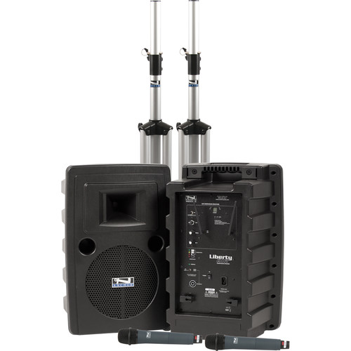 Anchor Audio Liberty Deluxe AIR PA Package Dual with Two WH-8000 Wireless Handheld Mics