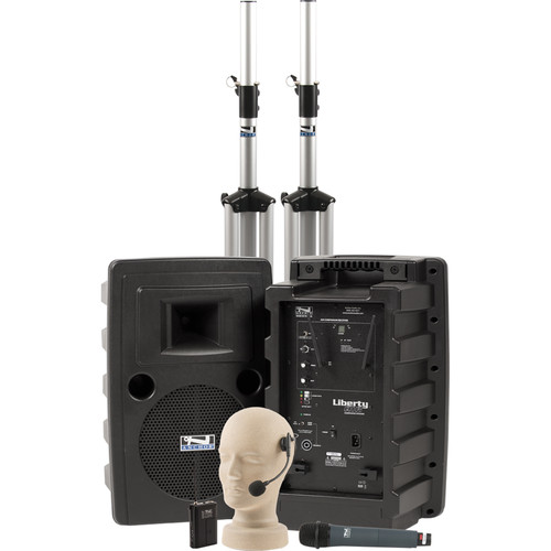 Anchor Audio Liberty Deluxe AIR Package Dual with One WH-8000 Wireless Handheld Mic and One HBM-TA4F Headband Mic